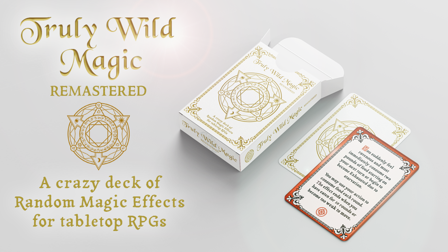 Freshly re-imagined, now more expertly realized card deck based on the original cards created for 5e & other TTRPG's!
