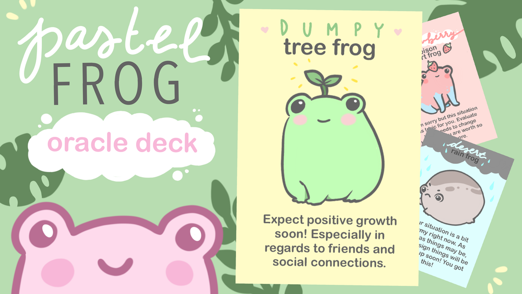 Project image for Pastel Frog Oracle Deck