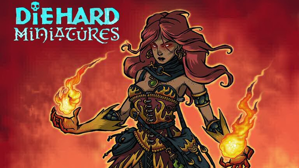 Project image for Diehard Miniatures: Wizards and their Magics!