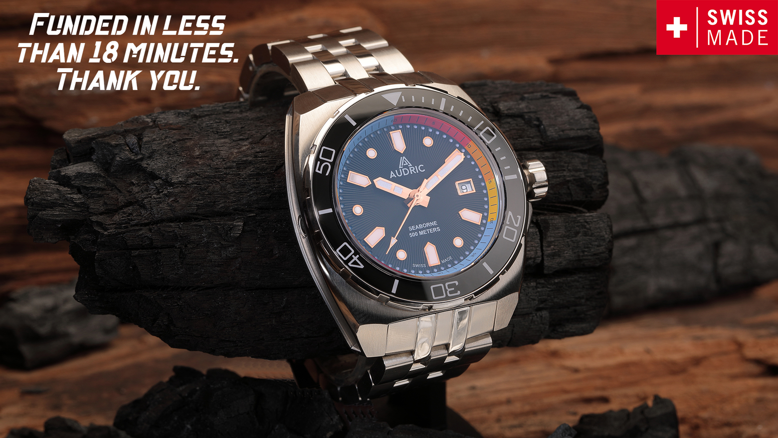 Unique opportunity to secure a sublime SWISS MADE DIVER designed for every occasion. Offering incredible value at an affordable price.