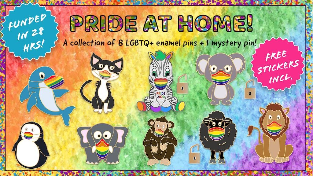 Cute LGBTQ+ animal enamel pins to celebrate Pride 2020 project video thumbnail