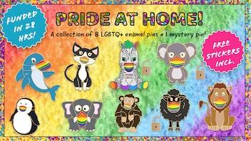 Cute LGBTQ+ animal enamel pins to celebrate Pride 2020