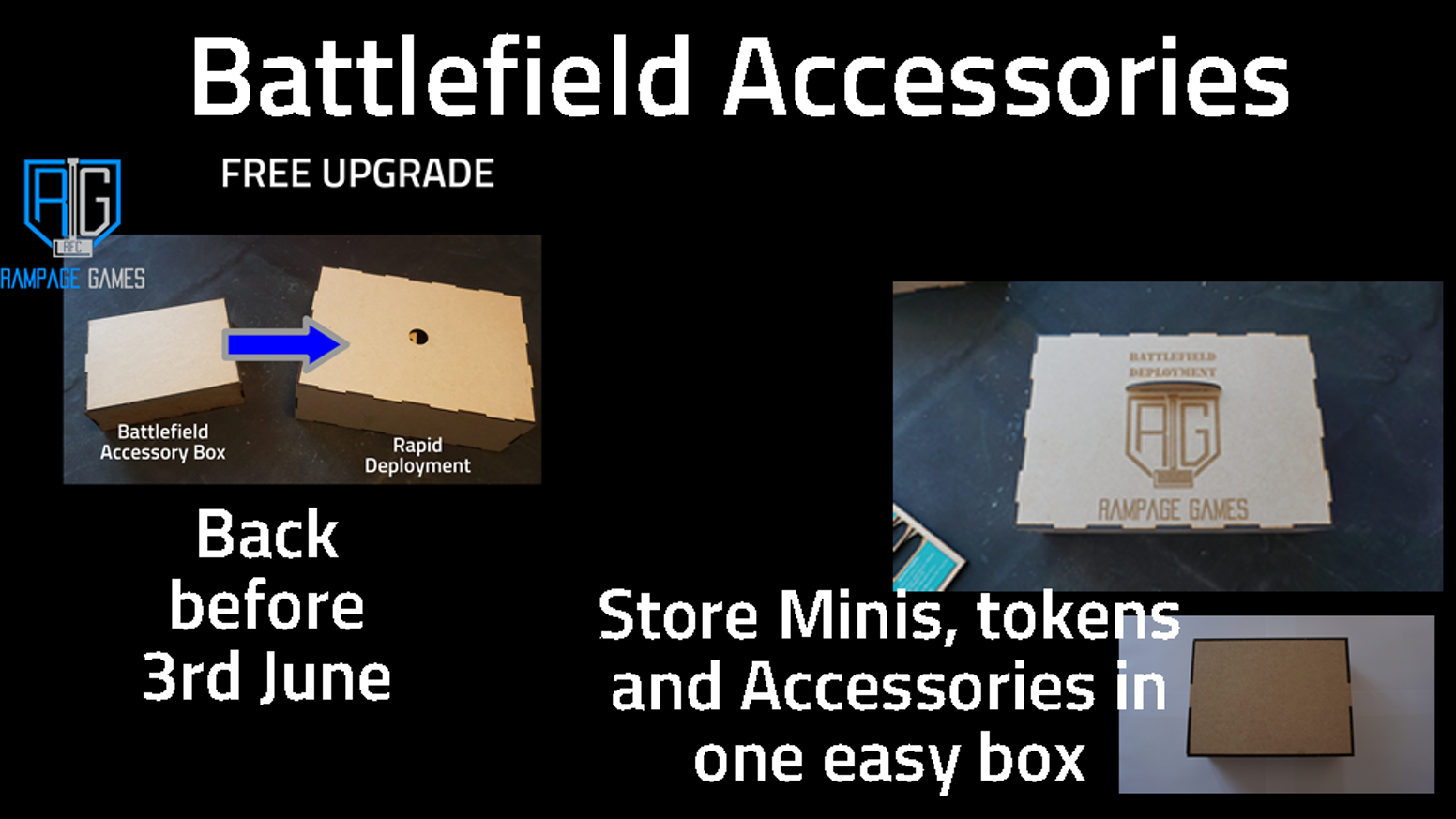A wargaming battle box designed to keep all your essential accessories for different games systems in one place.