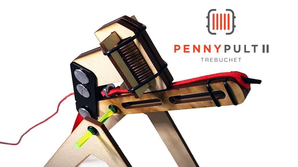 Pennypult II: Mini Trebuchet project video thumbnail