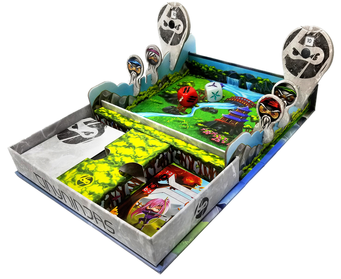 Transform the game box in this ultra-portable, fast-action card & dice game for 1-2 players. Play anywhere, play everywhere!