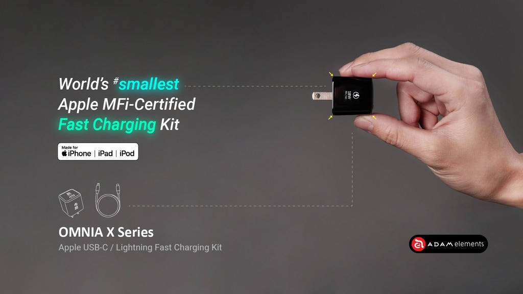 World's smallest Apple MFi-Certified Fast Charging Kit project video thumbnail