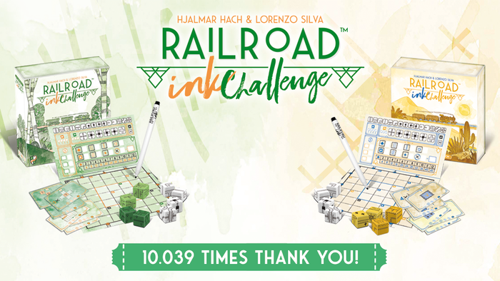 A quick playing roll and write game for 1-4 players with a focus on player interaction, from the creators of the original Railroad Ink.