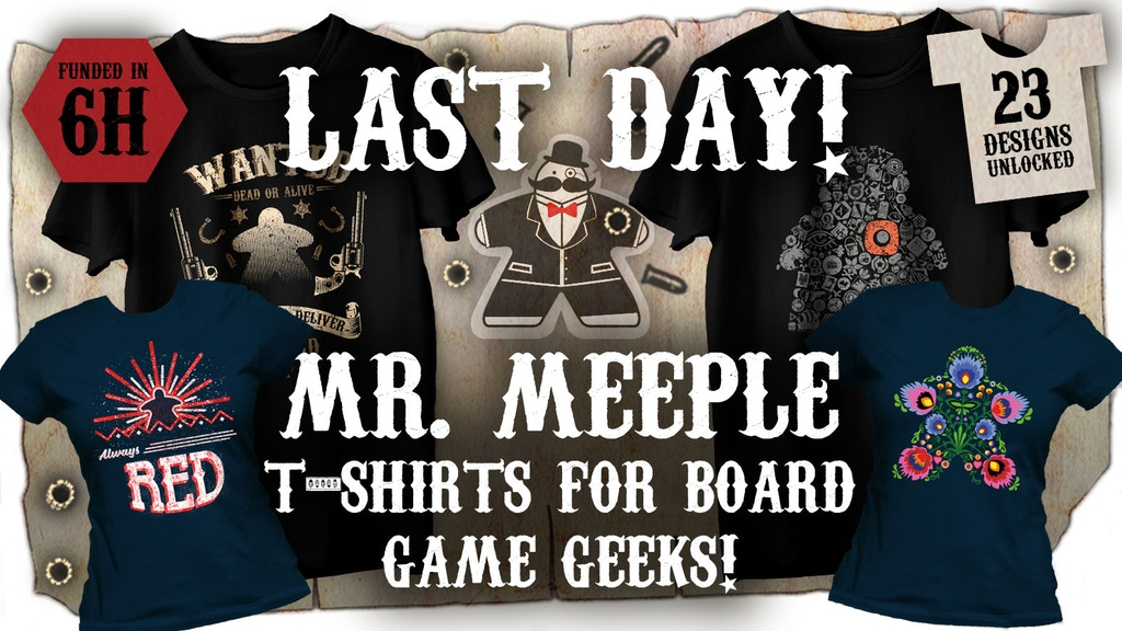 Mr Meeple Board Game Shirts - Season Two project video thumbnail