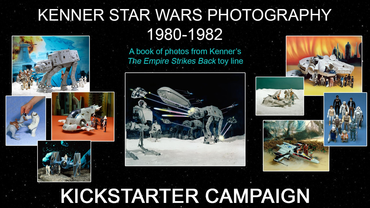 Hardcover book containing photos shot by original photographer for Kenner, Kim DM Simmons, for the original Star Wars toy line.