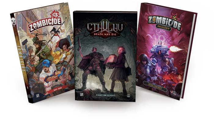 Experience Zombicide, Cthulhu: Death May Die, and Zombicide: Invader like never before with beautifully written and illustrated comics!