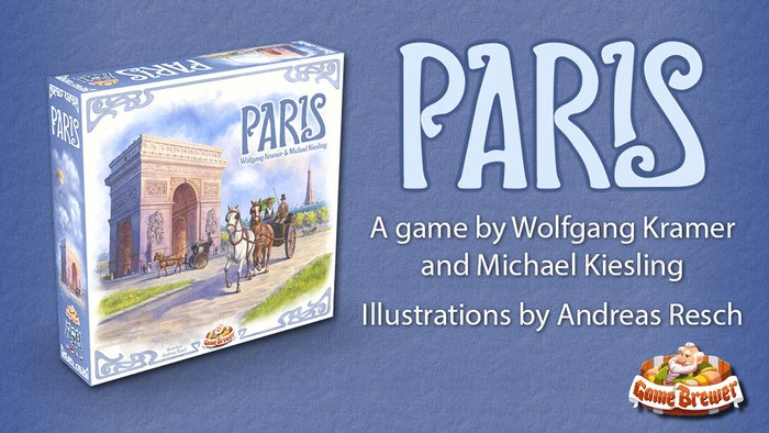 A unique medium-heavy eurogame by Wolfgang Kramer & Michael Kiesling.If you missed this campaign, you can now pre-order Paris on our website. Official release date: October 22, 2020.