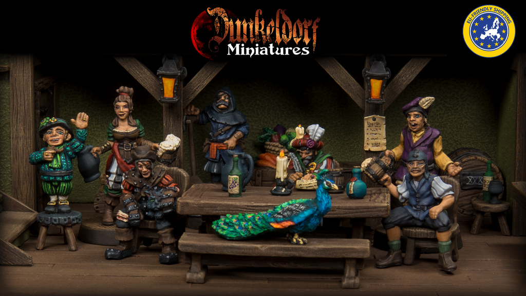 Project image for Dunkeldorf: The Prancing Peacock - RPG Tavern Miniatures