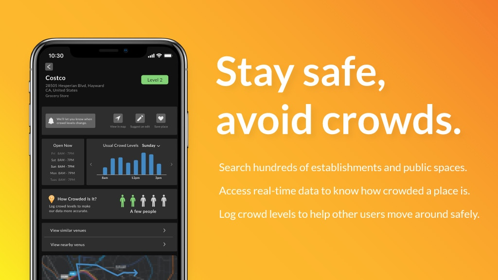 Crowd Alerts, a Social Distancing app project video thumbnail