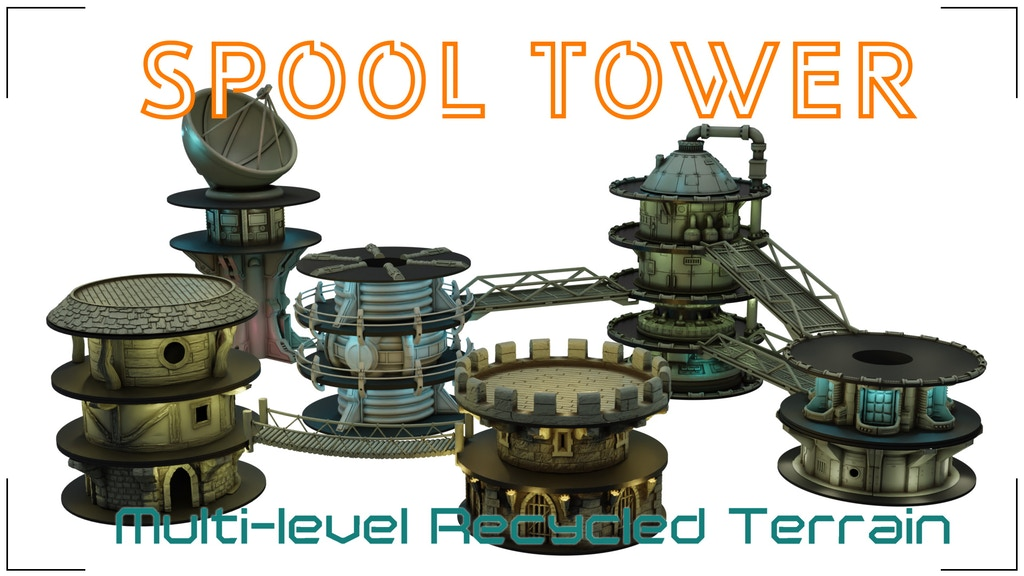 Spool tower - Multilevel Modular Scenery Construction System project video thumbnail