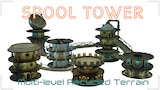 Spool tower - Multilevel Modular Scenery Construction System thumbnail