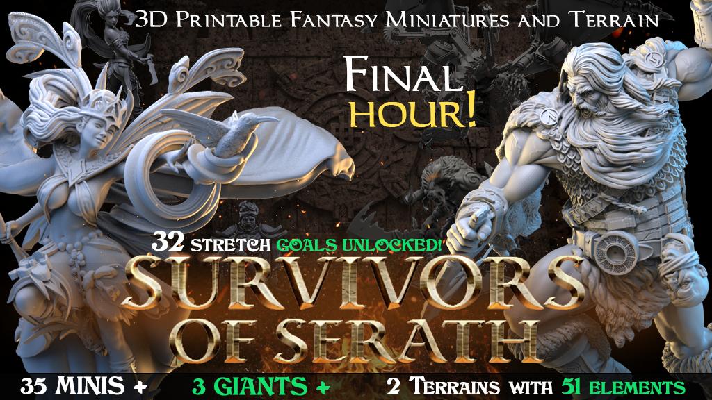 Survivors of Serath – 3D Printable Fantasy Miniatures project video thumbnail
