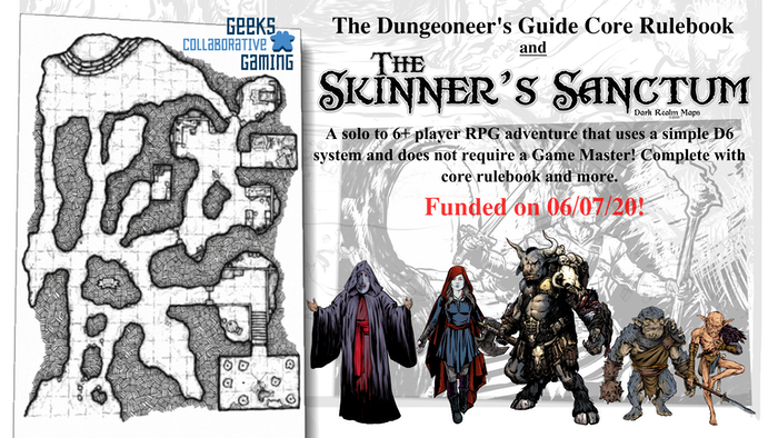 A solo to 6+ player RPG adventure that uses a simple D6 system and does not require a Game Master! Complete with core rulebook and more