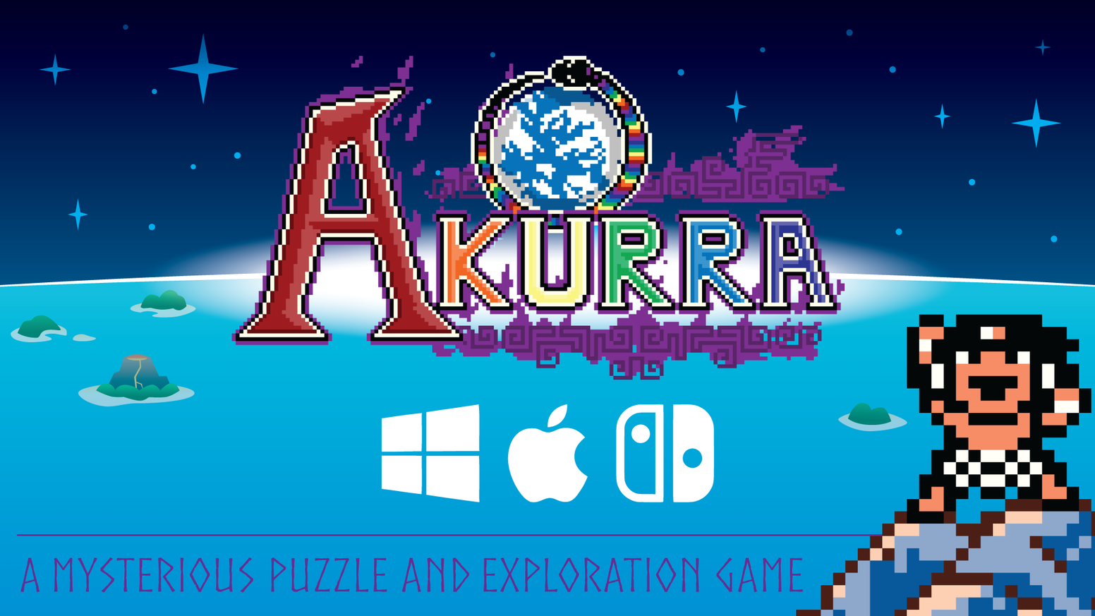 Akurra is a block pushing puzzle and exploration game inspired by games like Chip's Challenge, Star Tropics, Sokoban, and Zelda.
