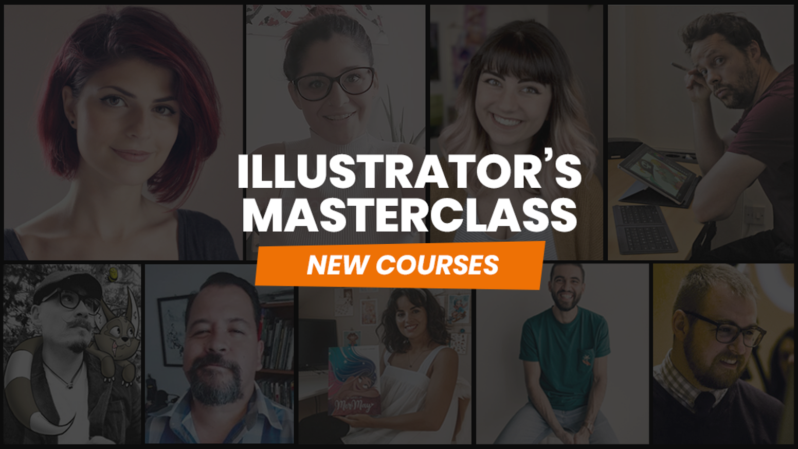 10 BRAND NEW courses added to our popular Illustrator's Masterclass. Learn from the PROS!