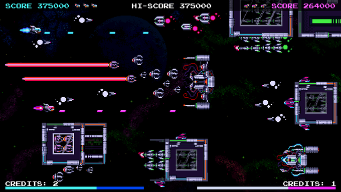 A 2 Player Co-op extended version of the Successful Pico8 game Galactic Wars for PC.