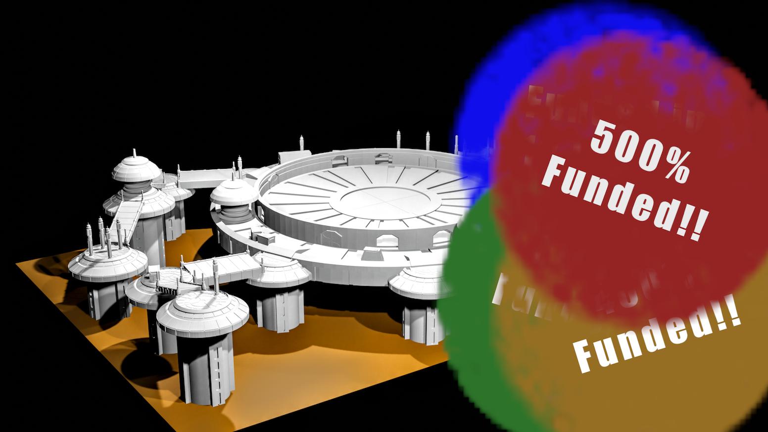 Modular platform terrain STL files suitable for a range of minatures based tabletop wargames.