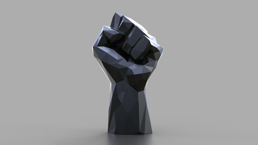 """""""BLACK"""" a crystal sculpture by Dan Life supporting equality project video thumbnail"""