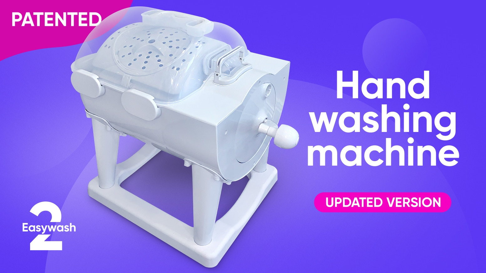 The manual washing machine and dryer for simple and thorough was in 5 minutes
