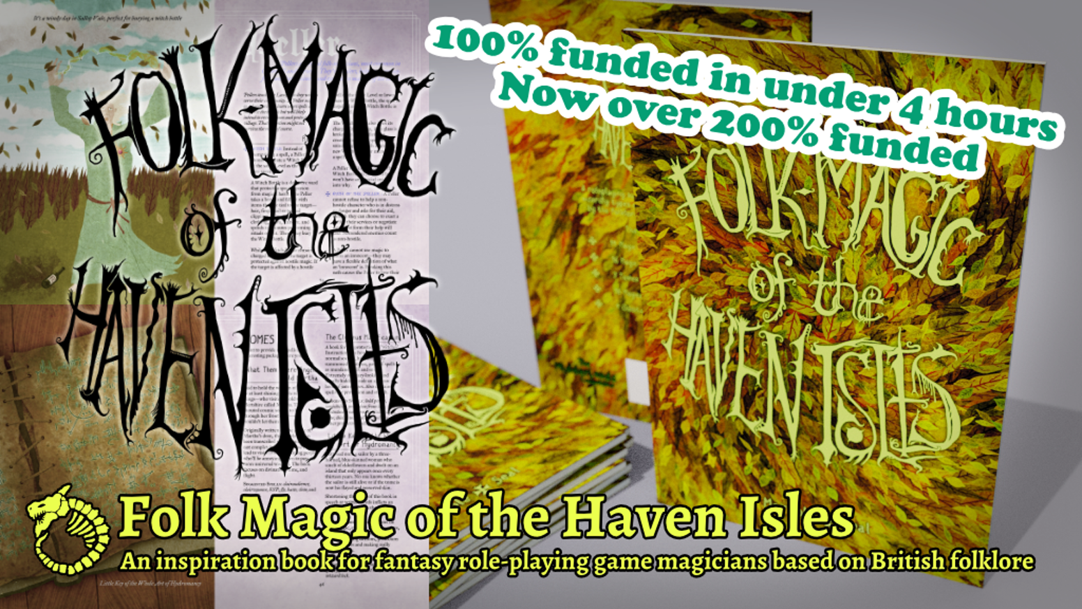 An inspiration book for fantasy role-playing game magicians based on British folklore