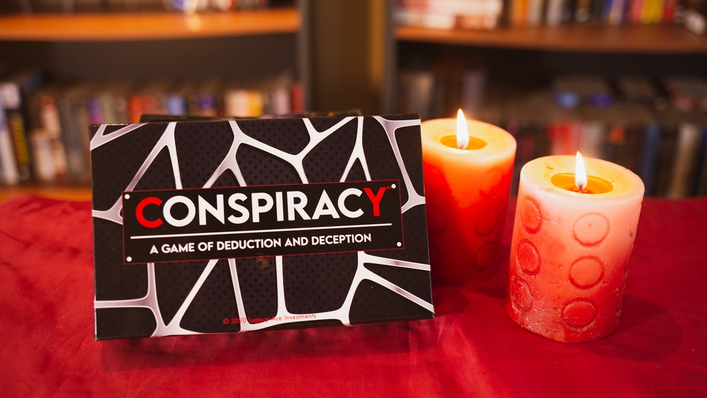 Conspiracy Board game: a game of deduction and deception
