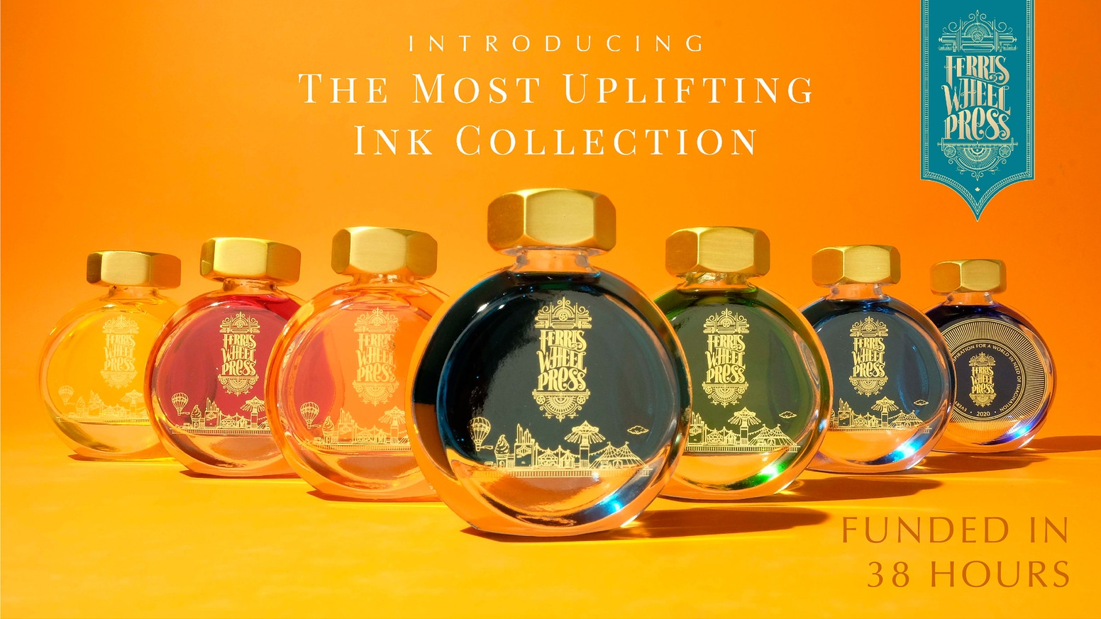 Introducing our brand new fountain pen ink collection in a beautiful 38ml bottle and 6 vibrant summer colours