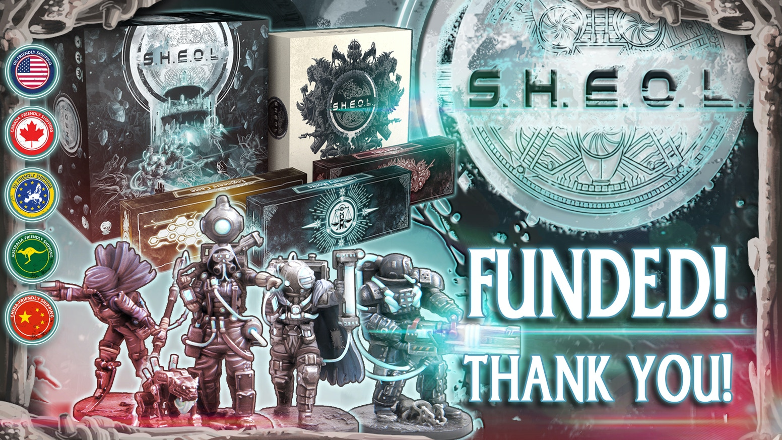 Sheol is a cooperative 1-4 player campaign game, set in a unique sci-fi world shrouded in an eternal night.