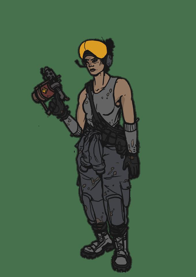 Rymdskeppsmekaniker, en av många sysslor du kan välja till din karaktär i spelet. Bild av David Jansén.