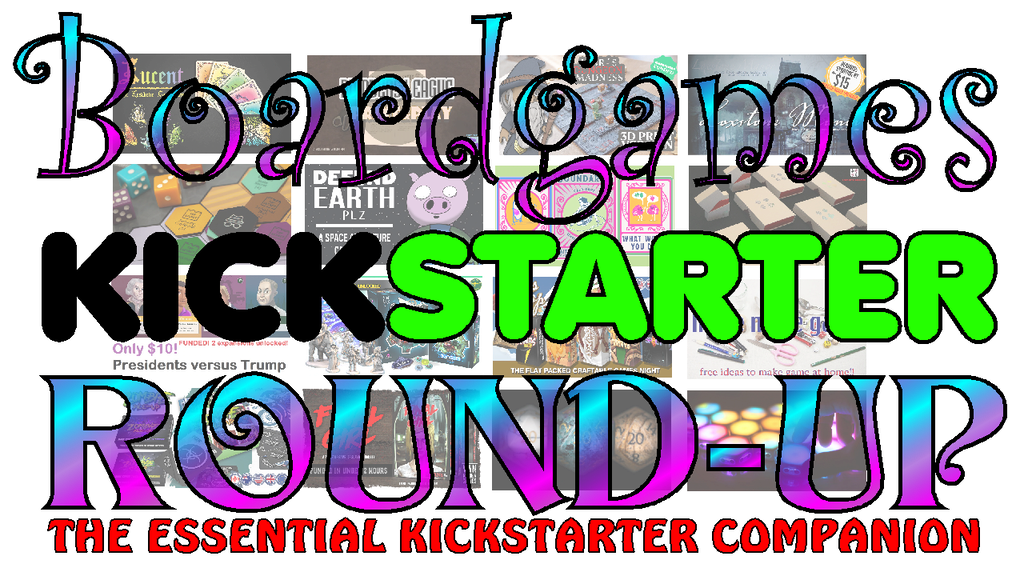 Boardgames Kickstarter Round-up Magazine June/July Issue project video thumbnail