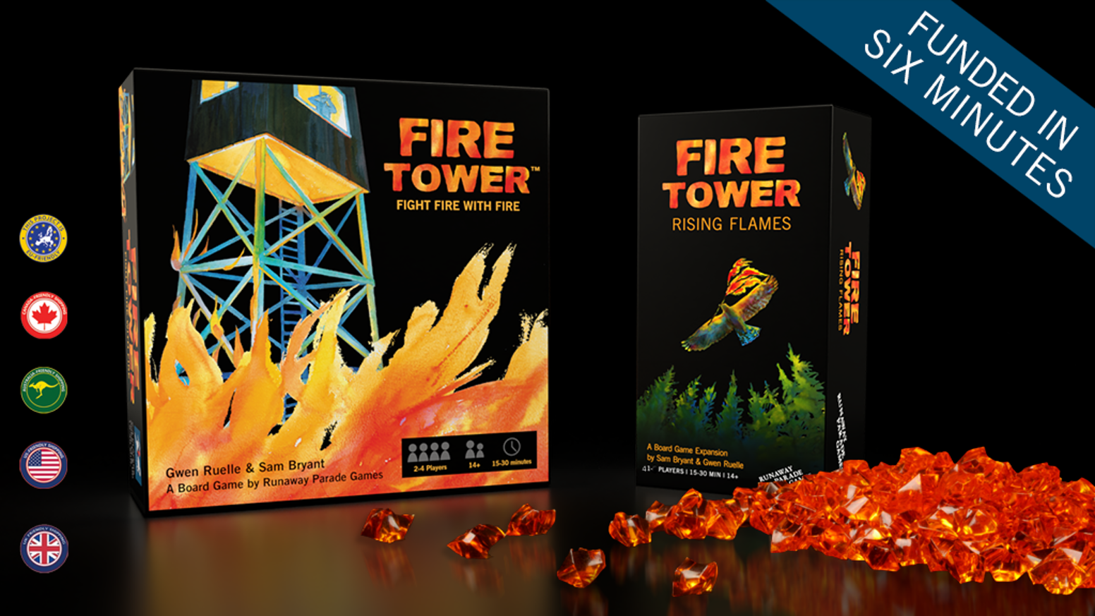 Fight fire with fire in this award-winning, fiercely competitive board game, now with legendary firehawks!