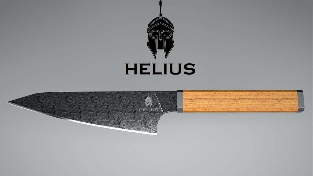 Helius: A damascus Honesuki knife for your kitchen project video thumbnail
