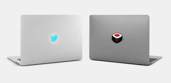 A tabtag is a glowing & reusable macbook sticker. In addition to our design collection we make custom designed/branded tabtags.