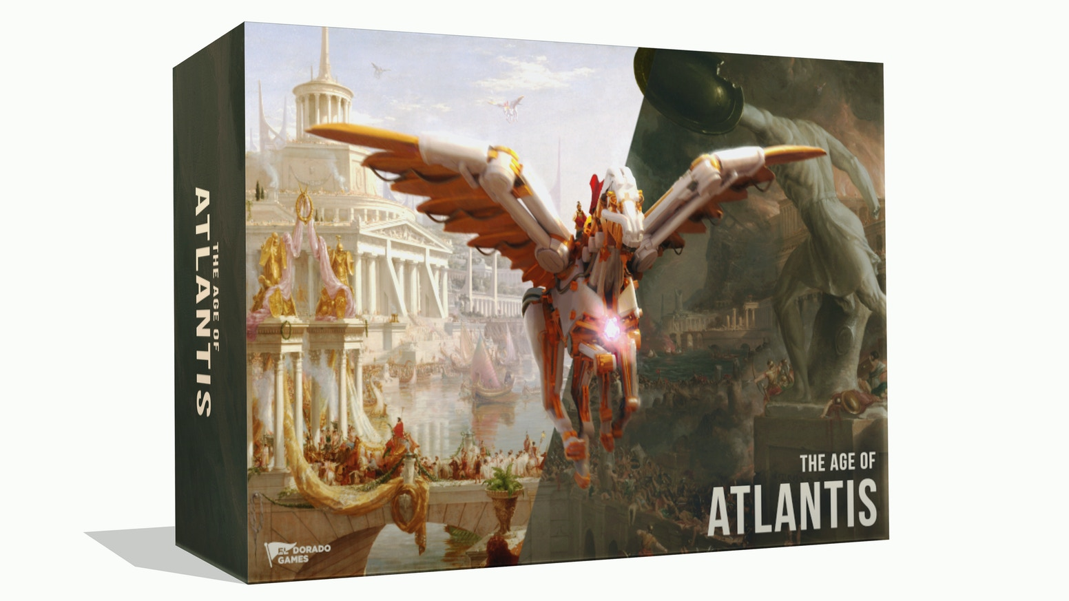 A competitive, engine-building, civilization game. Become the most powerful house in the legendary city of Atlantis.