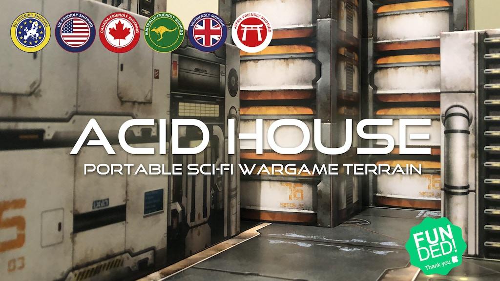 ACID HOUSE TERRAIN: Portable sci-fi wargame terrain project video thumbnail