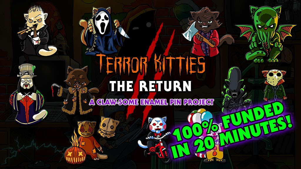 Terror Kitties 2: Horror Movie Cat Pins project video thumbnail