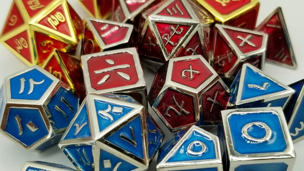 Project image for Relaunch: Arabic, Kanji, & Thai Metal Dice Set
