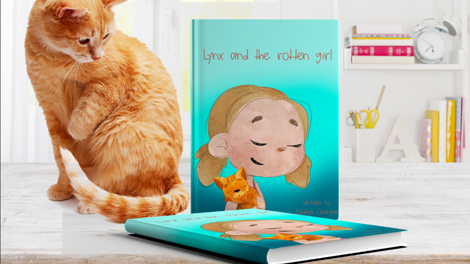 Lynx and the Rotten Girl is the debut book in a children's series about real life rescued cats, told from the cat's perspective.