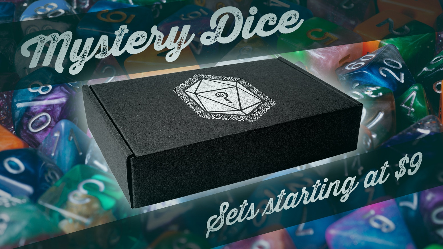 A beautiful box of Mystery Dice arrives at your door... but what's in it!?