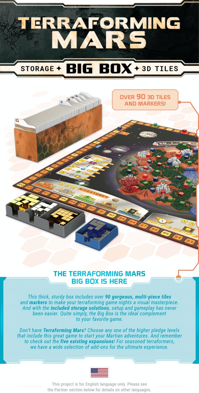 Terraforming Mars Big Box + 3D Tiles!
