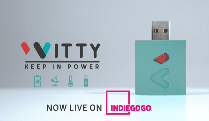 Witty doubles the life of your battery! It works with Android & iOS on smartphones, tablets and whatever device rechargeable via USB.