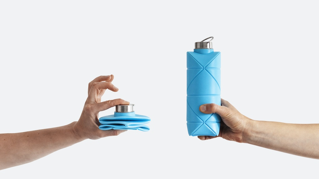 Origami Bottle! Revolutionary space-saving bottle by DiFOLD. project video thumbnail