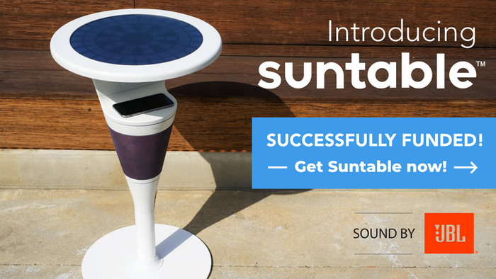 Solar-powered | Wireless Charging | Sound by JBL | Shaded Charging Shelf | 360-degree Sound