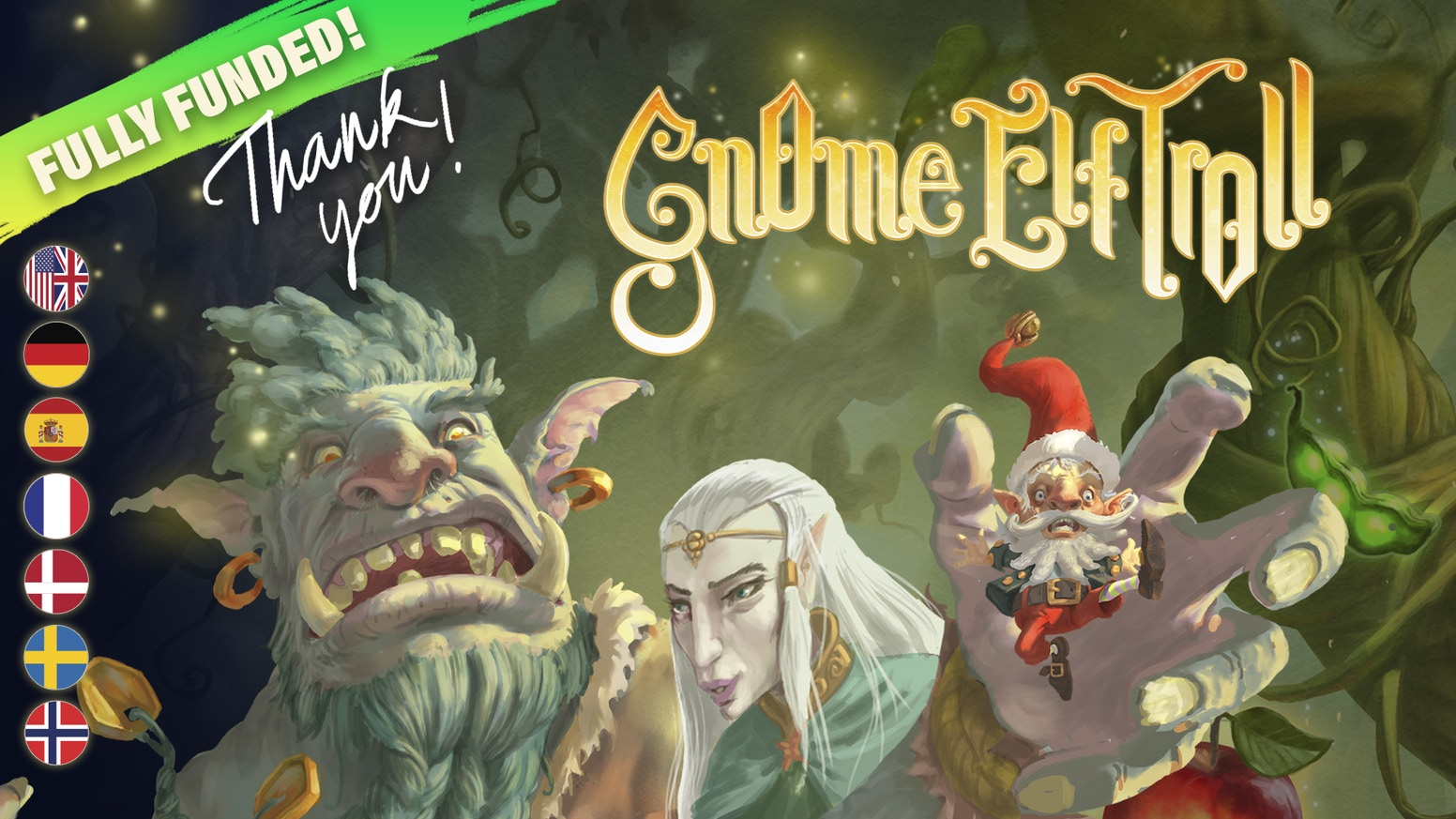A Fun and Quick Board Game with Gnomes, Elves and Trolls in the Garden of MagicFor inquires about sales and other questions about the game, please write us directly on,info AT notthebox.dk