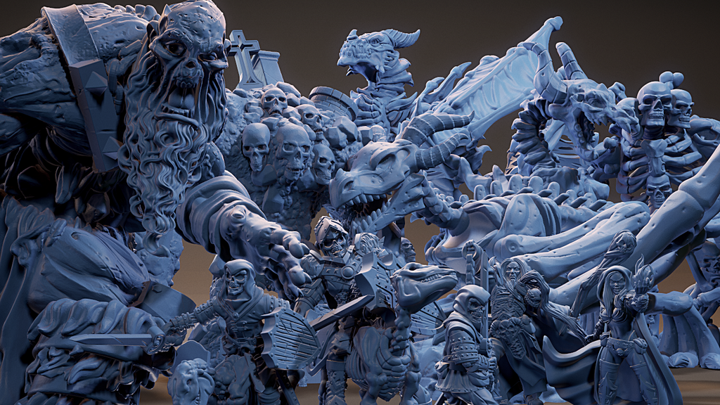 Project image for Bestiary Vol #3 - 3D Printable Models