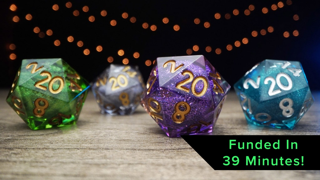 Elixir Dice: Handcrafted, Sharp Edged Liquid Core RPG Dice project video thumbnail