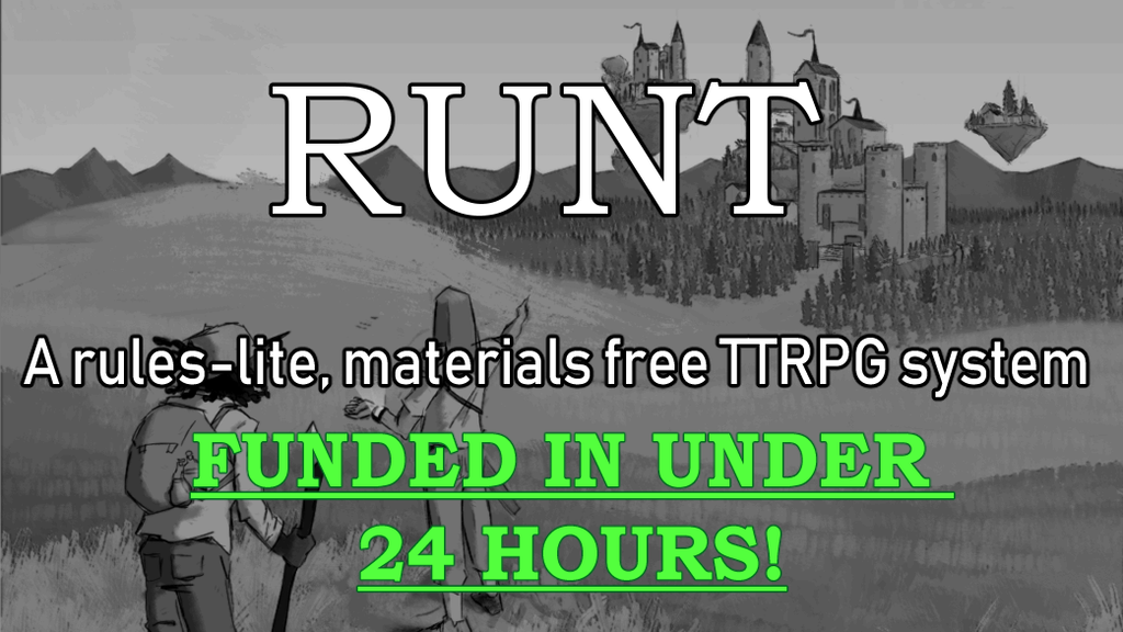 Project image for Runt: a materials free & rules-lite roleplaying system